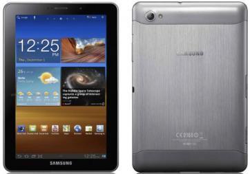 Планшет Samsung Galaxy Tab 7.7 16GB 3G Light Silver (GT-P6800) - спереди и сзади