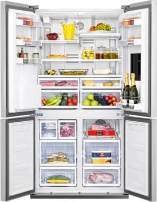 Холодильник с морозильником Beko GNE134620X - общий вид