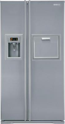 Холодильник с морозильником Beko GNEV422X - вид спереди