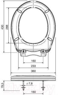Сиденье для унитаза ОРИО К-01-2 (темно-серый)