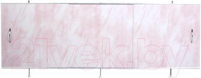 Экран для ванны Вир Пласт ЭС 170-50-УР (светло-розовый мрамор)