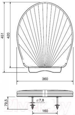 Сиденье для унитаза ОРИО КРЗ-6 (перламутровый)