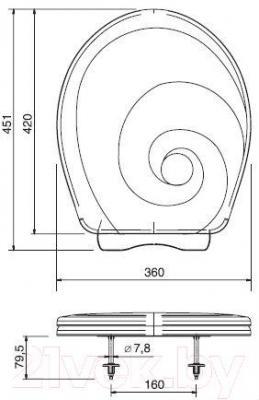 Сиденье для унитаза ОРИО КУ2-6 (перламутровый)