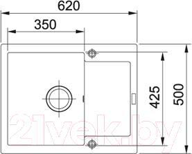 Мойка кухонная Franke MRG 611-62 (114.0296.503)