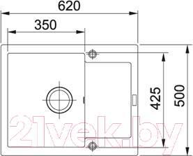 Мойка кухонная Franke MRG 611C (114.0198.353) - схема