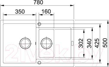Мойка кухонная Franke MRG 651-78 (114.0296.513) - схема