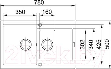 Мойка кухонная Franke MRG 651-78 (114.0198.347) - схема