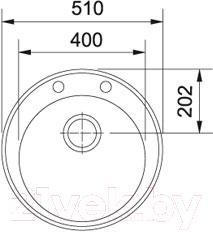 Мойка кухонная Franke ROG 610-41 (114.0263.253)