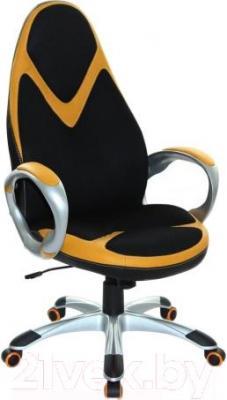 Кресло офисное Halmar Amos (черно-оранжевый)