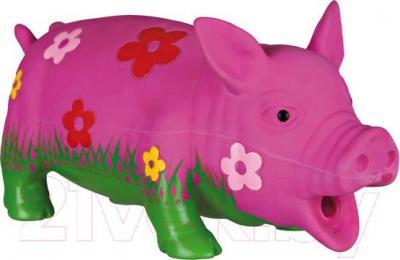 Игрушка для животных Trixie Свинка с цветами 35185 (со звуком) - общий вид