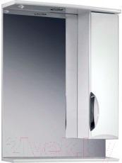 Шкаф с зеркалом для ванной Belux Сонет-Сити В60Ш (правый)