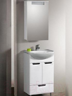 Шкаф с зеркалом для ванной Belux Сонет-Сити ВШ50 (левый)