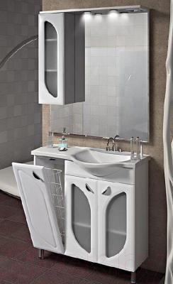Шкаф с зеркалом для ванной Belux Лира В80Ш (левый)