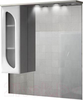 Шкаф с зеркалом для ванной Belux Лира В90Ш (левый)
