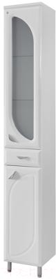 Шкаф-пенал для ванной Belux Лира П30-01 (белый, правый)