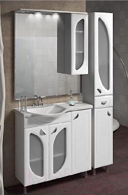 Шкаф-пенал для ванной Belux Лира П30-01К (белый, правый)
