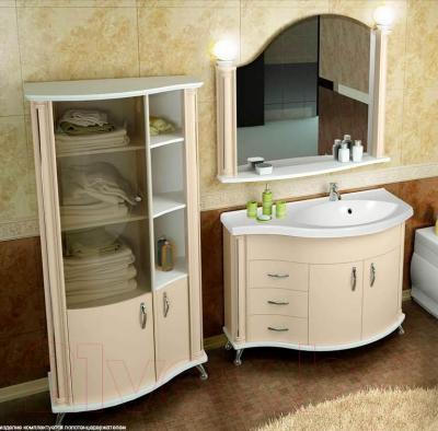 Шкаф для ванной Belux Ария ПН80 (бежевый, правый)