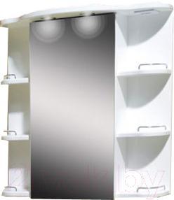 Шкаф с зеркалом для ванной Belux Кварта ВШ80 (правый)