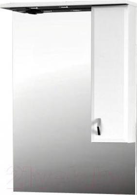 Шкаф с зеркалом для ванной Belux Аквалина В70Ш (правый)