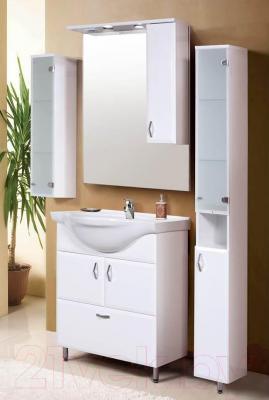 Шкаф с зеркалом для ванной Belux Аквалина В70Ш