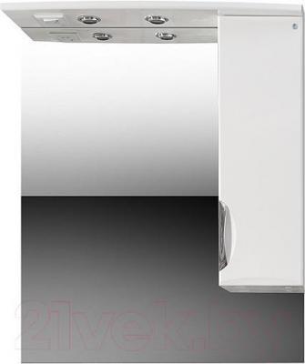 Шкаф с зеркалом для ванной Belux Венеция В 85 Ш (правый)