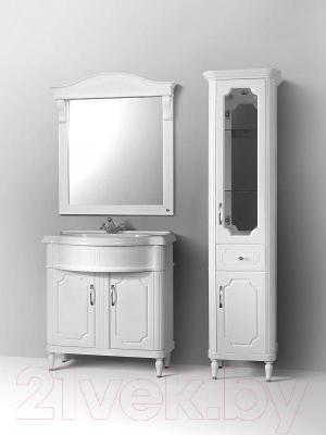 Шкаф-пенал для ванной Belux Каталония П30-01 (белый, правый)