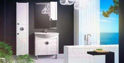 Шкаф-пенал для ванной Belux Анталия П30-02 (белый, правый)