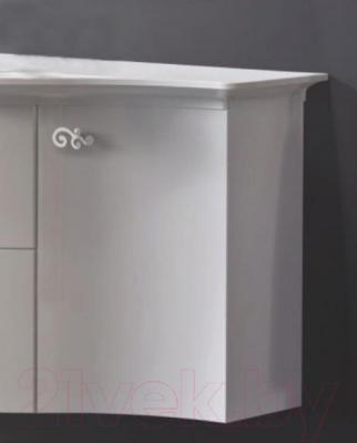 Шкаф-полупенал для ванной Belux Версаль НП30 - пятислойное высокоглянцевое покрытие