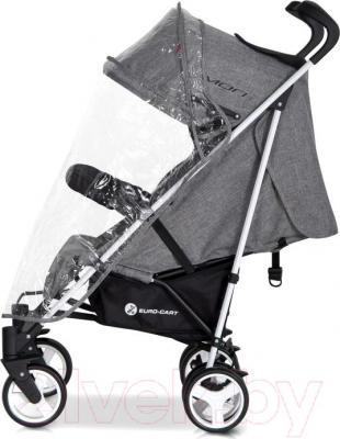 Детская прогулочная коляска Euro-Cart Mori (Scarlet) - дождевик