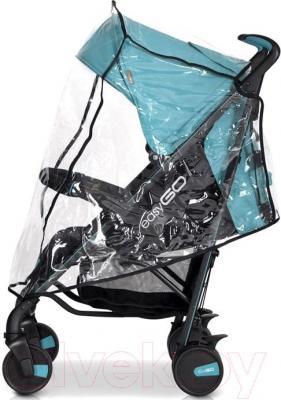 Детская прогулочная коляска EasyGo Nitro (карбон) - дождевик