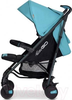 Детская прогулочная коляска EasyGo Nitro (карбон) - вид сбоку
