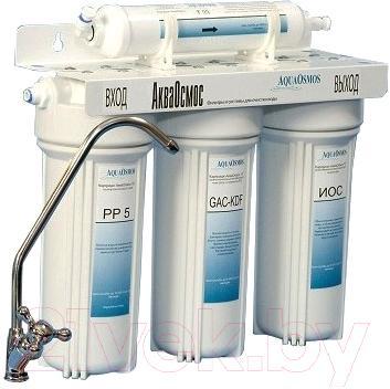 Фильтр питьевой воды АкваОсмос АО 4 М PP 5 + GAC-KDF + ИОС + Т 33
