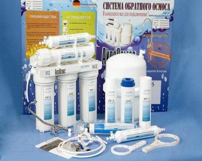Фильтр питьевой воды АкваОсмос АО RO 5 PP 5 + GAC + PP 1 + RO + T 33 - комплектация
