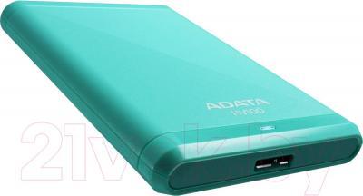Внешний жесткий диск A-data AHV100-1TU3-CBL (голубой) - общий вид