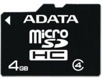 Карта памяти A-data microSDHC (Class 4) 4GB (AUSDH4GCL4-R) -
