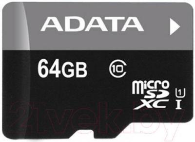 Карта памяти A-data Premier microSDXC UHS-I U1 Class 10 64GB (AUSDX64GUICL10-R) - общий вид