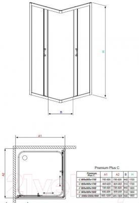 Душевой уголок Radaway Premium Plus C900 (30453-01-05N)