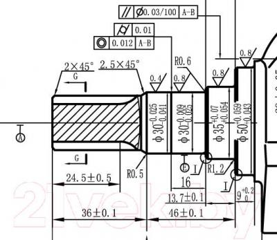 Двигатель бензиновый ZigZag GX 270 (177F/P-P10) - схема коленвала