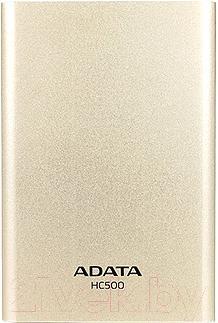 Внешний жесткий диск A-data AHC500-500GU3-CGD (золотой) - общий вид