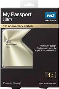 Внешний жесткий диск Western Digital My Passport Ultra Metal Gold 1TB (WDBTYH0010BCG)