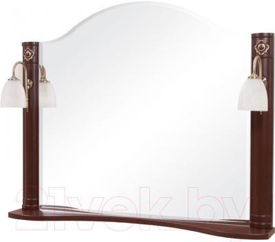 Зеркало для ванной Аква Родос Арт Деко 100 (орех итальянский)