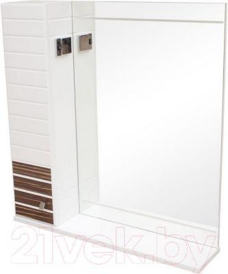 Шкаф с зеркалом для ванной Аква Родос Империал 65 (левый, венге)