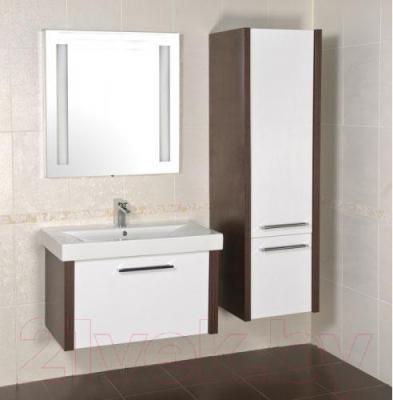 Зеркало для ванной Аква Родос Милано 80 (с подсветкой) - в интерьере