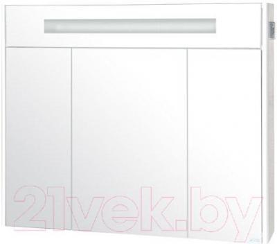 Шкаф с зеркалом для ванной Аква Родос Париж 100 (с подсветкой)