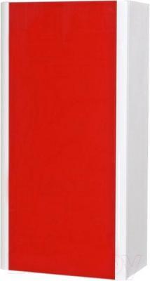 Шкаф-полупенал для ванной Аква Родос Париж (правый, красный)