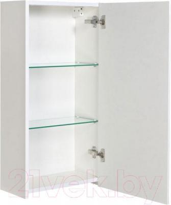 Шкаф-полупенал для ванной Аква Родос Париж (правый, черный)