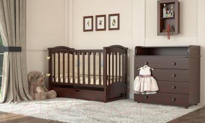 Детская кроватка Baby Dream Prestige 2 (темный орех)