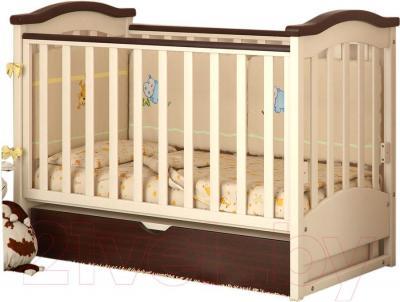 Детская кроватка Baby Dream Prestige 2 (ваниль) - реальный цвет модели - ваниль
