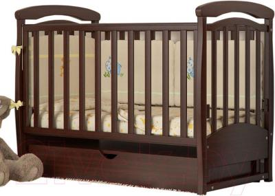 Детская кроватка Baby Dream Prestige 4 (темный орех)