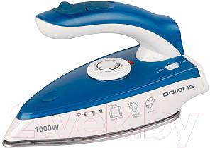 Дорожный утюг Polaris PIR 1004T (сине-белый)